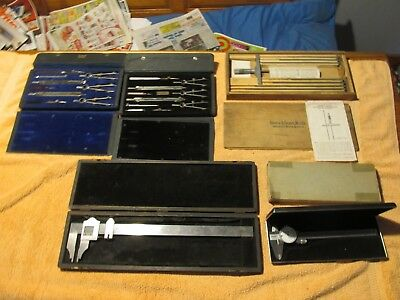 Large Lot Of Vintage Precision Tools, Brown And Sharpe. Depth, Calipers, Etc