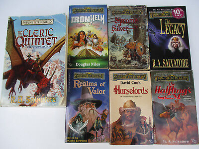 FORGOTTEN REALMS HIGH Fantasy Medieval Dungeons & Dragons Fiction Paperback  Lot