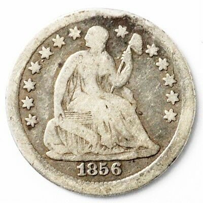1856 Seated Liberty Half Dime - 5c Silver