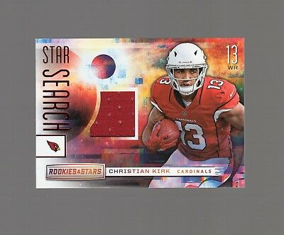 Christian Kirk_2018 Panini Rookies & Stars_Player Worn Material_Star Search_Ss19