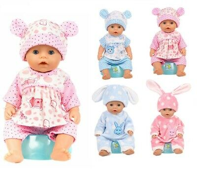 Baby Doll Clothes Suit Zapf Doll Jumpsuit Suit Doll Nightdress Sleeping Clothes