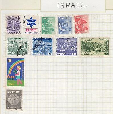 ISRAEL on Justice Arbor Day AIR etc on Old page, as per scan USED MH #