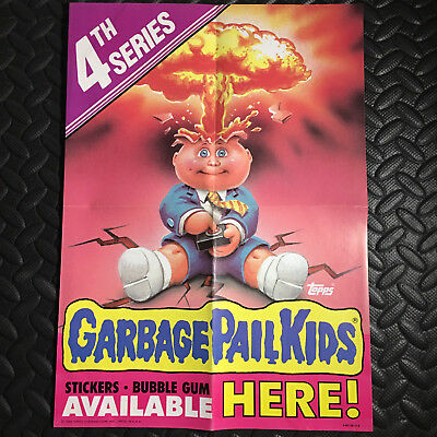 GARBAGE PAIL KIDS 1986 4th SERIES 4 PROMOTIONAL WINDOW POSTER AD PROMO
