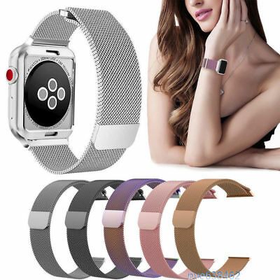 Magnetic Milanese Stainless iWtach Band Strap 38/42 For Apple Watch Series 3 2 1
