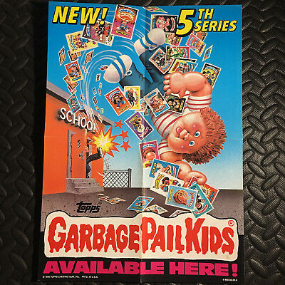 GARBAGE PAIL KIDS 1986 5th SERIES 5 PROMOTIONAL WINDOW POSTER AD PROMO
