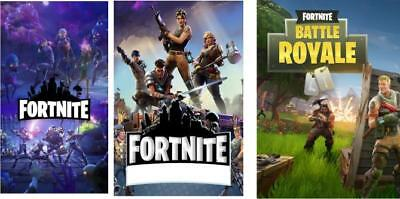 Fortnite posters x3 A3