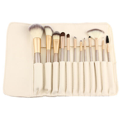 Professional Make up Brush Set Foundation Blusher Face Powder Kabuki Style 12pcs