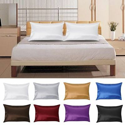 Pure Mulberry Silk Pillow Case Pillowcase Cover Housewife Queen Standard AU