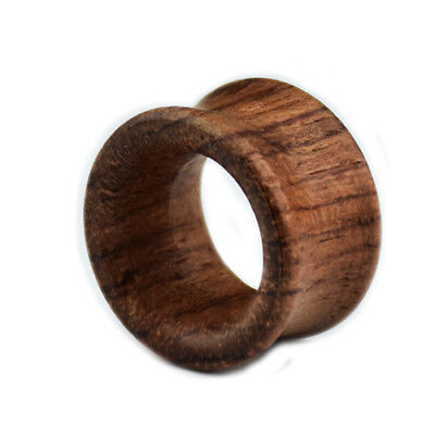 Bambus Holz Double Flared Flesh Tunnel Plug Ohr Piercing Beige Natur 8-20mm