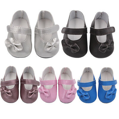 1 pair Doll Shoes Cute Lovely Sandals For 18 Inch Girl Gift PU Loafer Useful