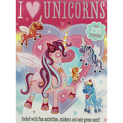 I Love Unicorns Sticker and Activity Book (Paperback), Children's Books, New