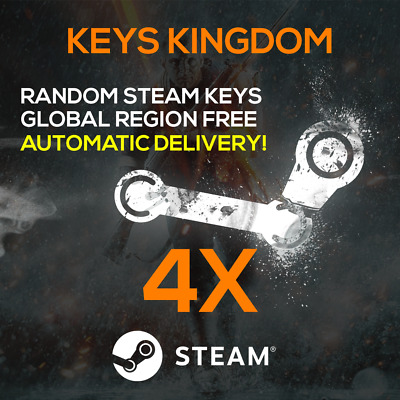 4x Random Steam Keys ⚡⚡ AUTOMATIC INSTANT DELIVERY ⚡⚡ GLOBAL REGION ✅