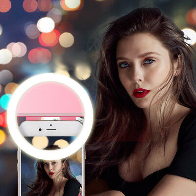 Selfie Portable LED Ring Fill Light Camera Photography iPhone Android Phone
