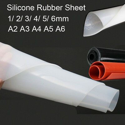 White/Black/Red Silicone Rubber Sheet High Temp Mat Plate A2~A6 1/2/3/4/5/6mm