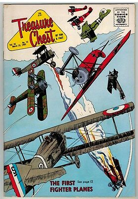 Treasure Chest Of Fun And Fact Mar 25 1965 Vintage Fighter Planes Cover!
