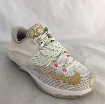 d152f779ddbe NIKE KD 7 Youth Boys 4 4Y Kevin Durant Aunt Pearl Cancer Shoes Angel Wings