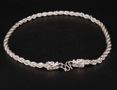 Rare Chinese Silver-Plated Necklace Sweater Chain Stylish Decorative Ladies Gift