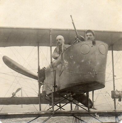 Photo Aviateur pilote avion biplan du Camp retranchée PARIS Guerre 1914 1918