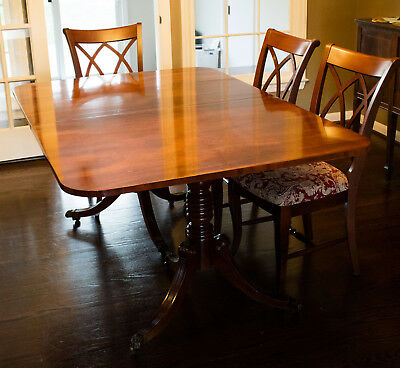 Kittinger 100+ year old Antique Dining Room Table with 6 chairs + custom pads