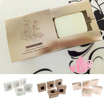 5 Pcs Handmade Soap Packaging Paper Boxes Wedding Favors Birthday Gift Box