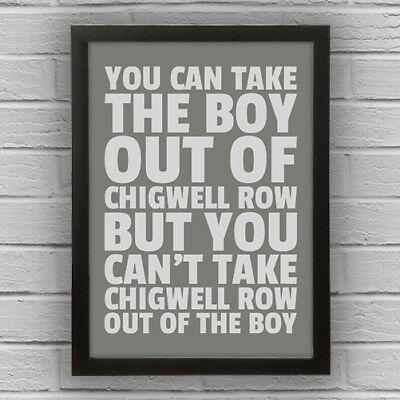 CHIGWELL ROW - BOY/GIRL WORD WALL ART PICTURE POSTER Essex
