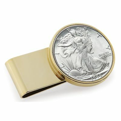 American Coin Treasures Goldtone Stainless Steel Year to Remember Half-dollar