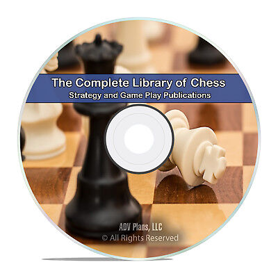 Classic Chess, 100 Books, Learn How to Play, History Strategy Game Play DVD H60