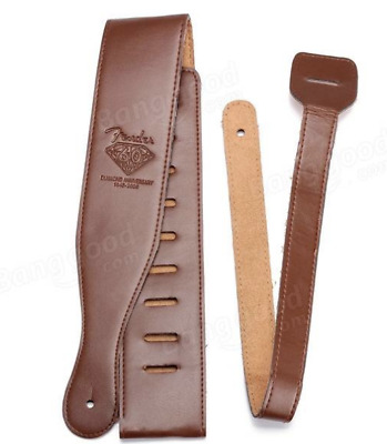 Guitar Strap Fender Badge Pu Leather + Strap Locks