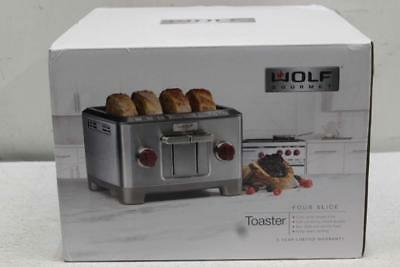 Wolf Gourmet Four-Slice Toaster In Stainless Steel/Red, 820299909