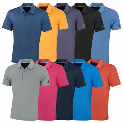 adidas Golf Mens 2018 Ultimate365 Solid Short Sleeve Stretch Polo Shirt Top