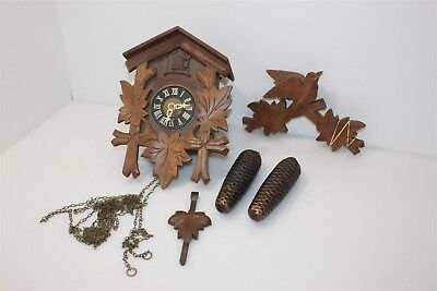 German Wood & Plastic 8 Day Black Forest Cuckoo Clock