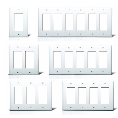 Decora GFI/GFCI Outlet Cover Rocker Switch Wall Plate Decorator, Plastic, White