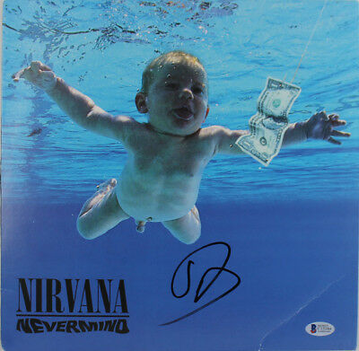 Dave Grohl Nirvana Signed Nevermind Album Cover W/ Vinyl Autographed BAS #C15384