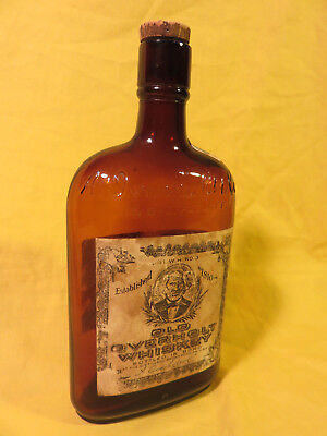 "Old Overholt Pure Rye 100 Proof Whiskey Bottle, ""for Medical Purposes Only"""