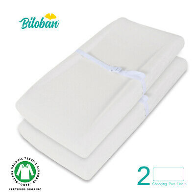 "Baby Waterproof Changing Pad Cover Infant Sheet Organic Cotton 2 Pack 32"" x 16"""