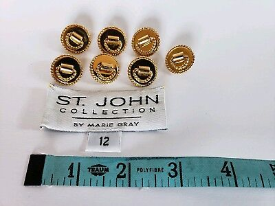 ST. JOHN COLLECTION Lot of 7 Gold Knocker Style Replacement Buttons