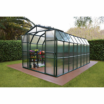 Grand Gardener 2 Twin Wall Greenhouse - 8ft.W x 16ft.L, Model# HG7216