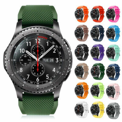 For Samsung Gear S3 Frontier/Classic Silicone Bracelet Strap Watch Band 22mm
