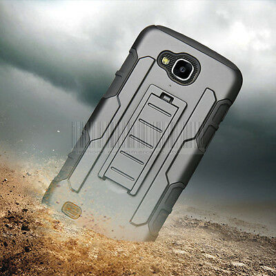 Hybrid Armor Holster Case Shockproof Clip Cover For LG X Venture/V9/X Calibur