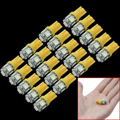 20 Pcs Bright T10 W5W 5 LED 5050-SMD Vehicle Car Tail Light Bulb Lamp-Orange
