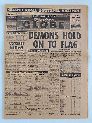 1960 09 24 'demons Hold On To Flag' The Sporting Globe Newspaper