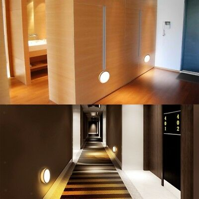 USB Rechargeable LED Night Light Motion Sensor Lamp for Cabinet Warm White