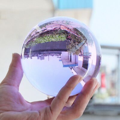 Clear Glass Crystal Ball Healing Sphere Photography Props Lensball (50-100mm)