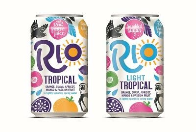 Rio Light Tropical Cans 24x330ml £15.79 for 24 cans, FREE posting