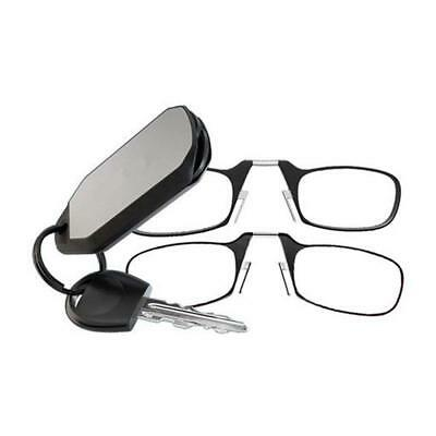 Convenience Keychain Mini Nose Clip Reading Glasses + Case Thinoptics Style HOT