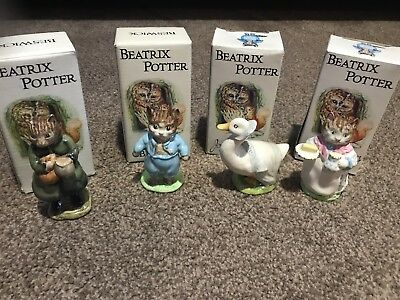 Beswick Beatrix Potter Figures Tom Kitten Simpkin Ribby Rebecca Puddleduck