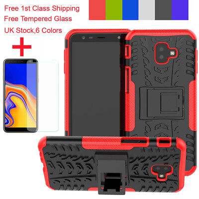 For Samsung Galaxy A6 J4 J6 Plus Case Heavy Duty Tough Armor Shockproof Cover+TG