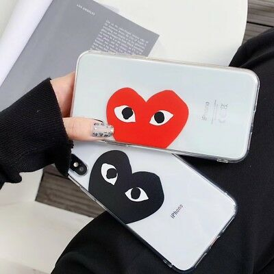 Phone Case Champion Aape Play Heart Soft TPU Cover For iPhone XsMax XR 6 7 8Plus