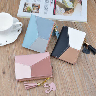 AU Women PU Leather Wallet Purse Short Card Holder Clutch Lady Small Handbag