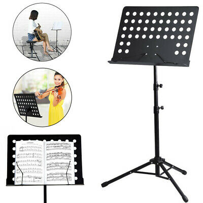 Adjustable Height Music Stand Note Holder Base Tripod Orchestral Conductor Sheet